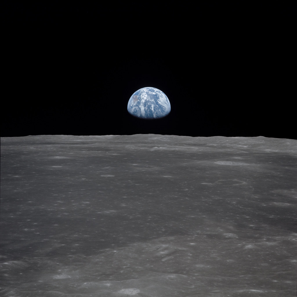 """""""Apollo 11 Approaches the Moon"""" by NASA's Marshall Space Flight Center is licensed under CC BY-NC 2.0"""